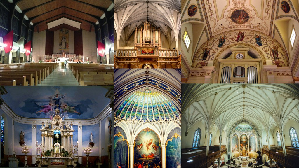 Collage inside church